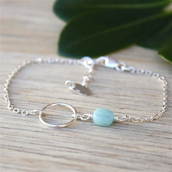 925 silver ring bracelet and gemstone square to choose from on silver chain