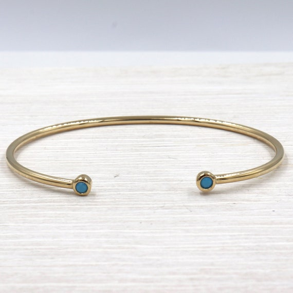 gold and turquoise-plated women's bracelet