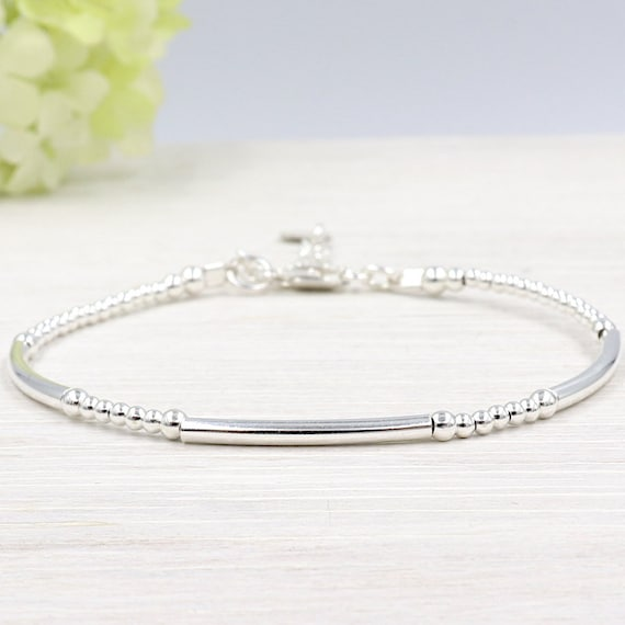 Bracelet bangles and 925 sterling silver beads