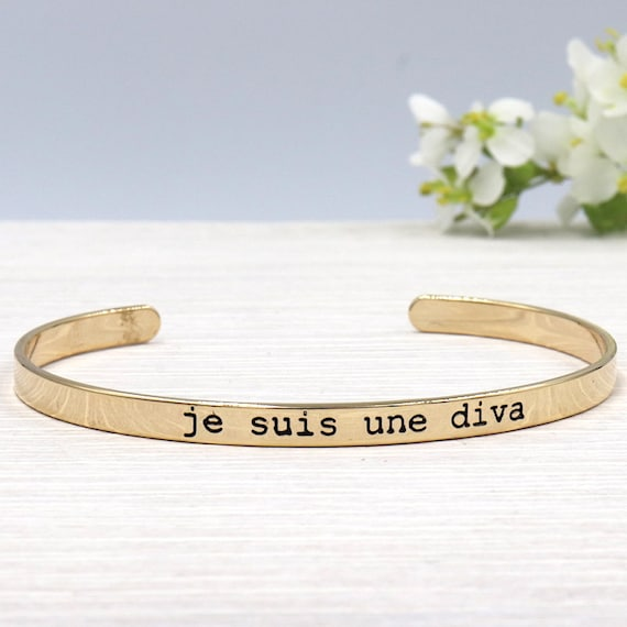 Bangle woman I'm a diva gold-plated