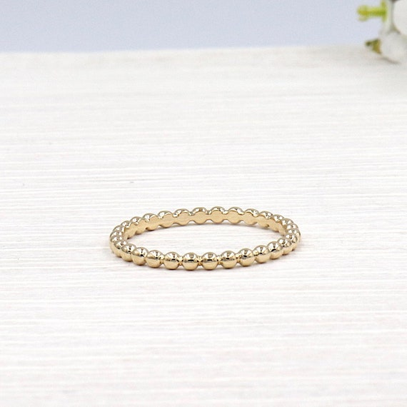 gold-plated ball ring