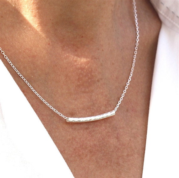 925 solid silver hammered junk necklace on solid silver chain