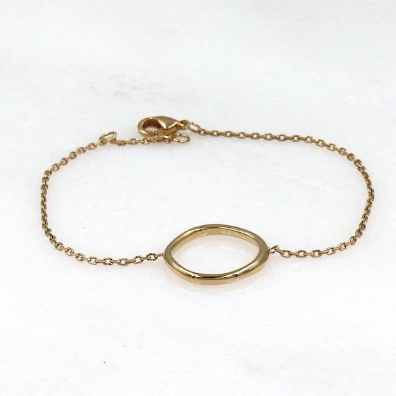 Women's bracelet, gold-plated bracelet, gold-plated chain, gold-plated ring bracelet, irregular chain ring, chain bracelet