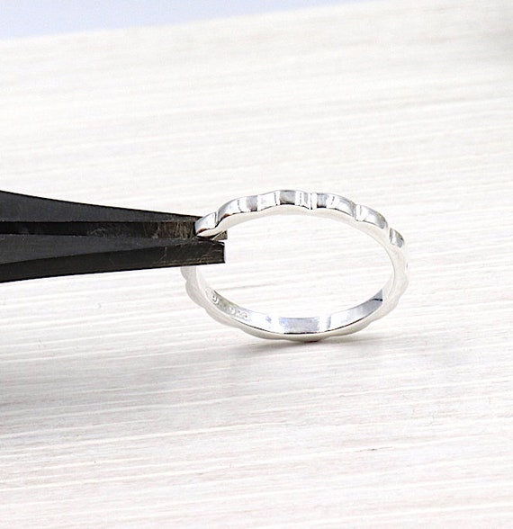 Silver ring 925 waves for women