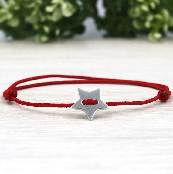 925-star silver cord bracelet for women