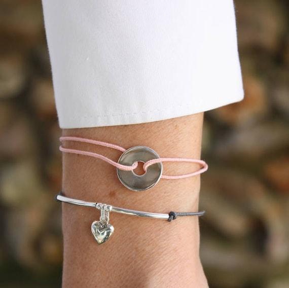 cord choice target Silver 925 bracelet