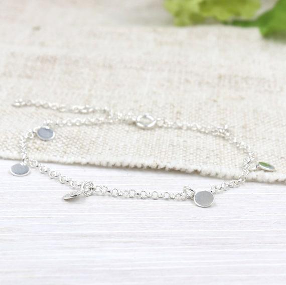 Women's 925 silver lozenges bracelet on chain