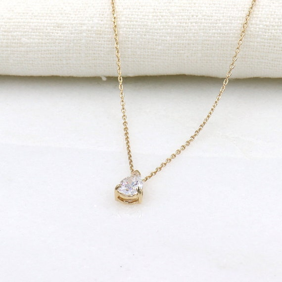 drop zircon women gold plated necklace