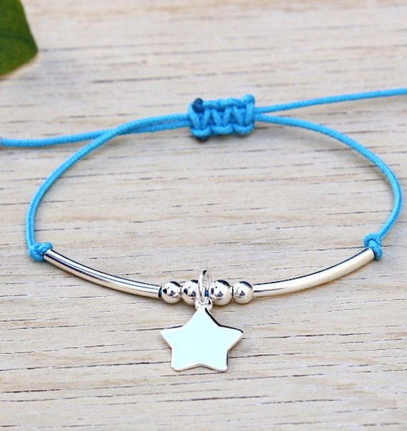 cord bracelet of choice rush and silver star 925