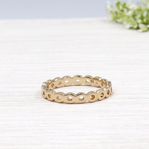 gold-plated woman ring
