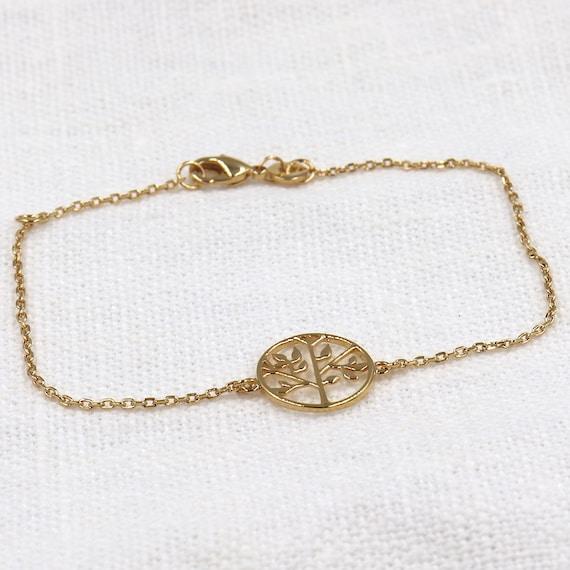 gold-plated life tree bracelet for women