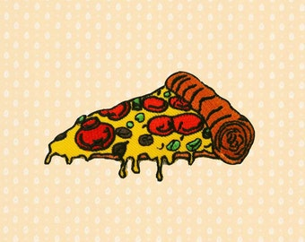 Pizza Slice Fast Food  Embroidered Sew On Apllique DIY Jeans Patches