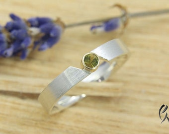Ring Silver 925 / - with tourmaline
