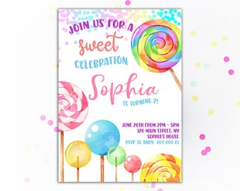 candy invitation etsy