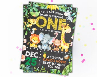 1st birthday invitations boy etsy safari animals birthday invitation jungle birthday invite boy birthday invitations party animals zoo first birthday 1st birthday invites filmwisefo