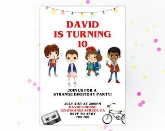 Stranger Kids Invitation Stranger Party Invitation Stranger