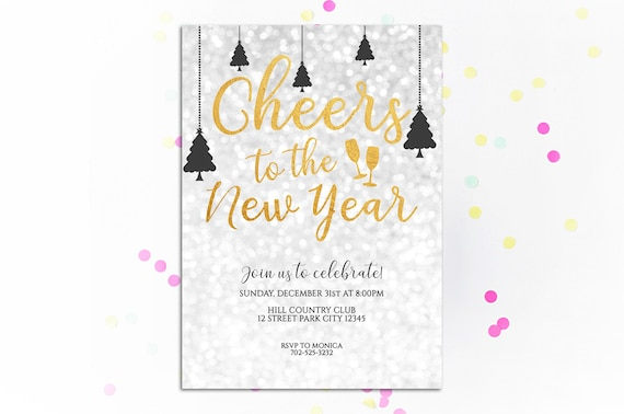 Printable New Year's Eve Invitation