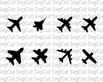 Airplane SVG files, Airplane silhouette svg bundle, svg files for silhouette, cricut, vector, cutting file, dxf, clipart, eps, jet, plane