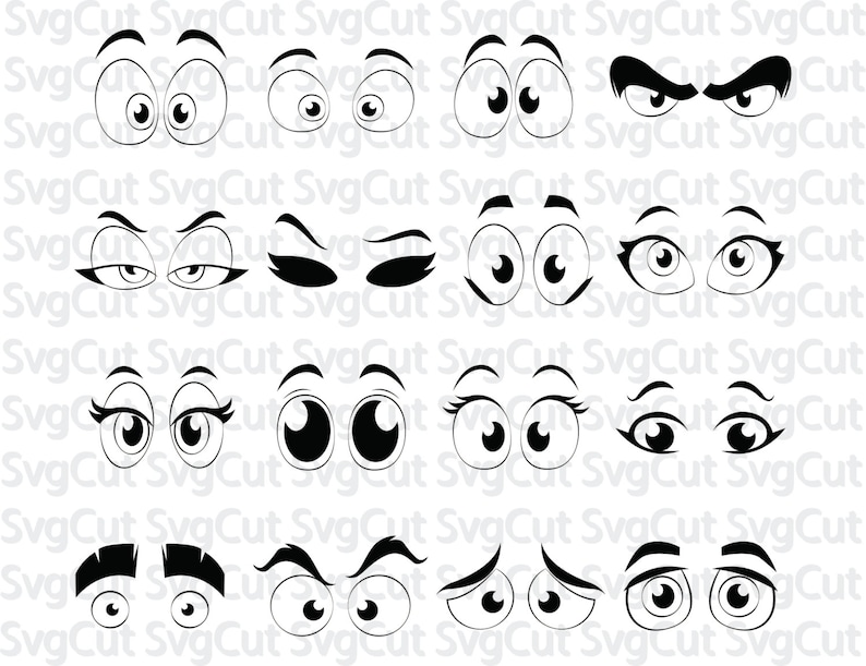 photograph relating to Printable Eyes Template identify Cartoon Silhouette, Cartoon comedian eyes, Template SVG Silhouette Cricut Printable Artwork Poster Vector, SVG eyes, Electronic vinyl clipart