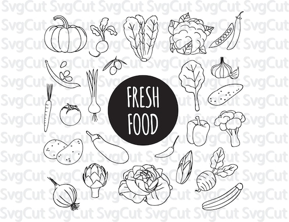 Fresh Food Clip Art Food Monograms Nutritional Clipart