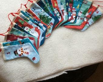 Perpetual advent calendar - boots hanging