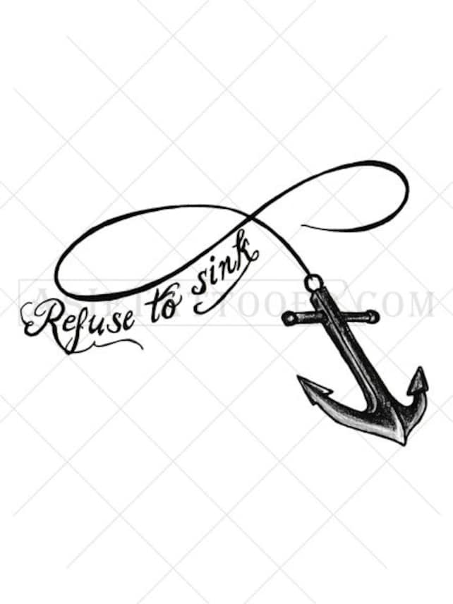 Anchor Tattoo Infinity Tattoo Gifts For Men Tattoo Etsy