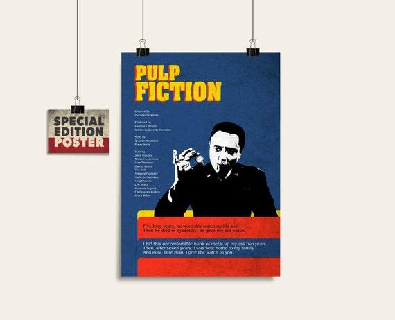 Pulp Fiction Minimalist Poster Tarantino Movie