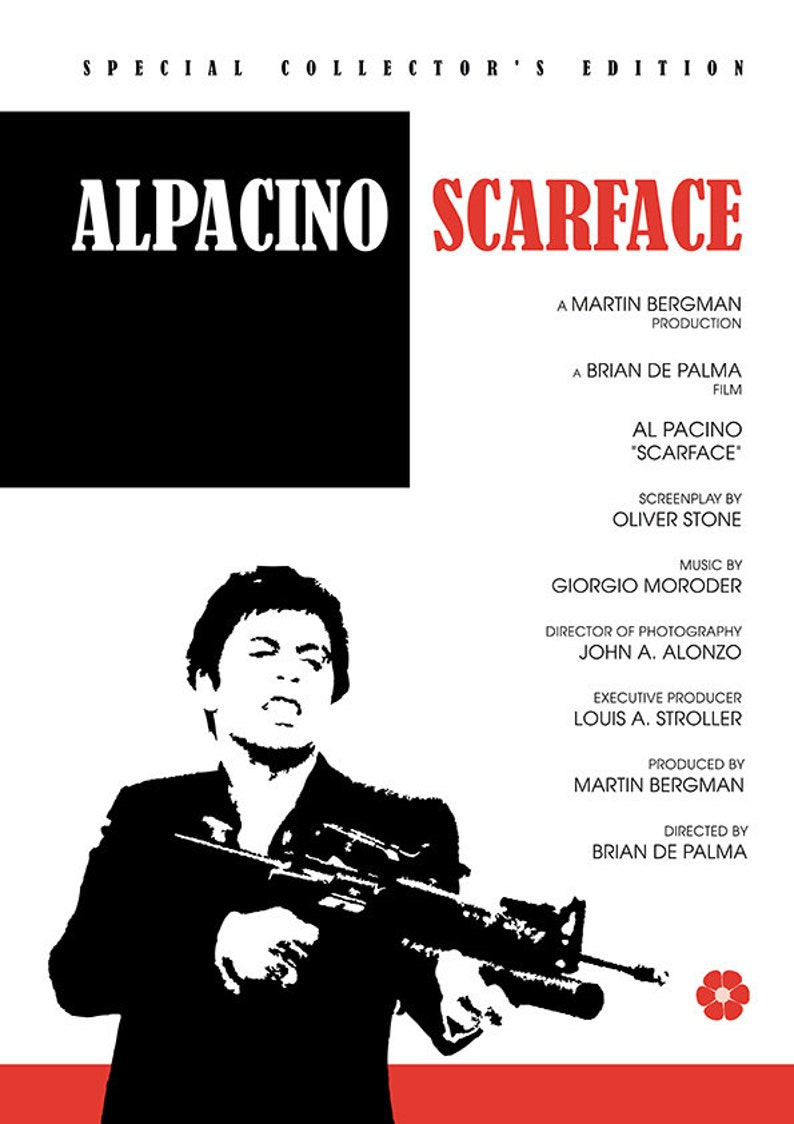 Scarface Poster Print, Alternative poster, Movie poster, Movie art, Movie  poster, Alternative poster, Digital poster, Instant download