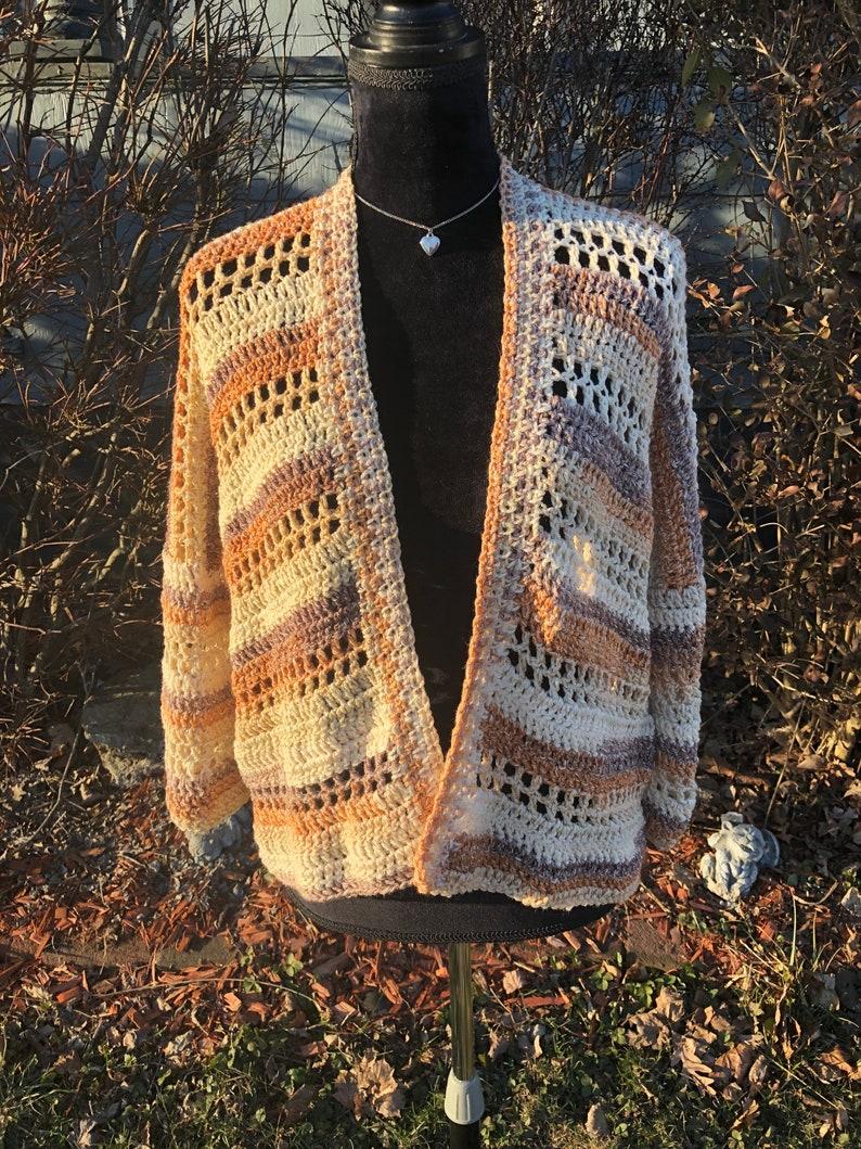 Crocheted Women\u2019s Spring Cardigan SweaterLightweight women\u2019s sweaterWomen\u2019s Clothing Cotton sweater