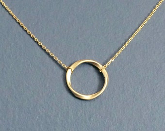 4cdf66dcf SALE! twisted circle pendant, gold plated necklace, simple, small,  everyday, dainty, timeless