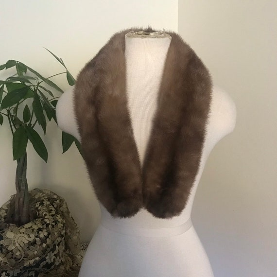Vintage Honey Mink Fur Collar, Mink Fur Wrap, Mink Shawl, Outerwear, Fur Coats,
