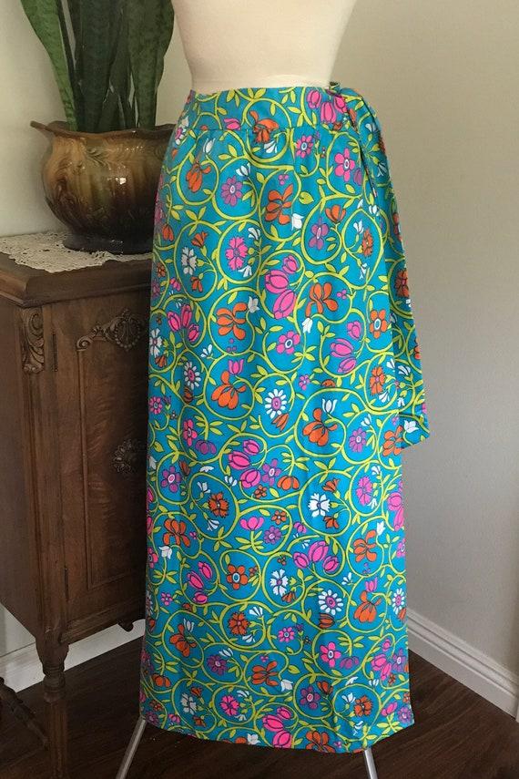Vintage 1960's LANZ MAXI Wrap Skirt, skirt, long s