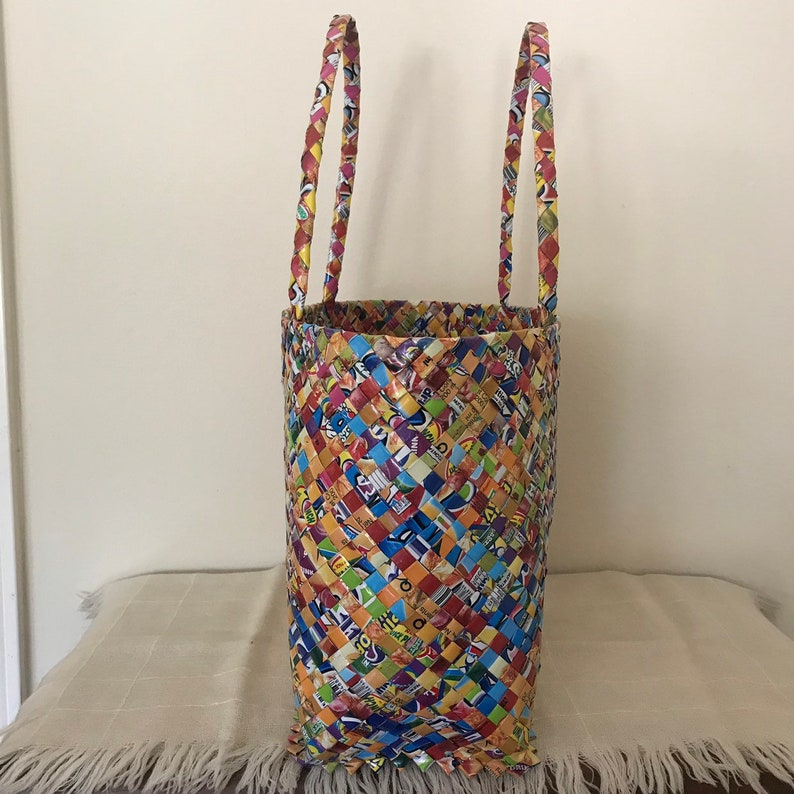 Large Tote Bag Candy Wrapper Large Tote Bag Beach Tote.