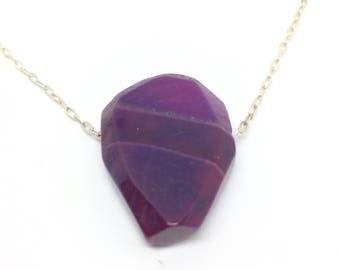 Large agate necklace, Large stone necklace, Agate necklace quartz, Large agate stones, Purple stone necklace, Purple agate pendant