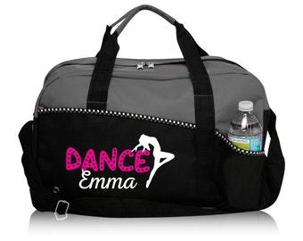 Personalized Dance Bag, Gray Duffle Bag, Sports Duffle, Dance Practice Bag, Gym Bag, Perfect Dance Bag, Black Dance Bag, Dance Team Gift