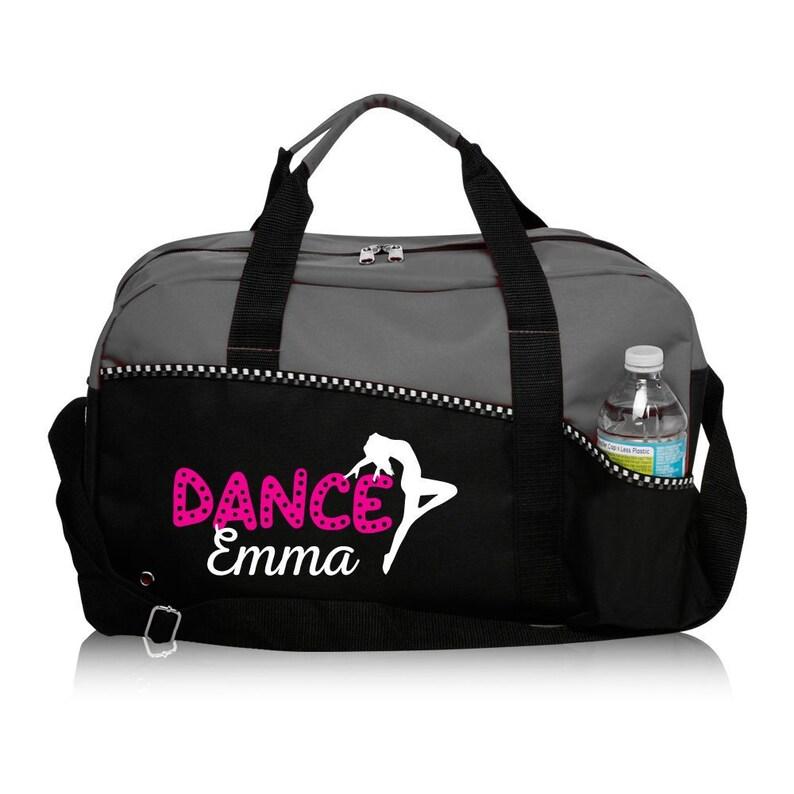 a9be23d190de Personalized Dance Bag, Gray Duffle Bag, Sports Duffle, Dance Practice Bag,  Gym Bag, Perfect Dance Bag, Black Dance Bag, Dance Team Gift