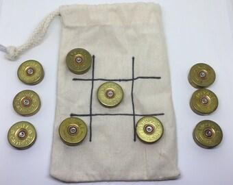 12 Gauge Shotgun Cartridge Noughts and Crosses Travel Game