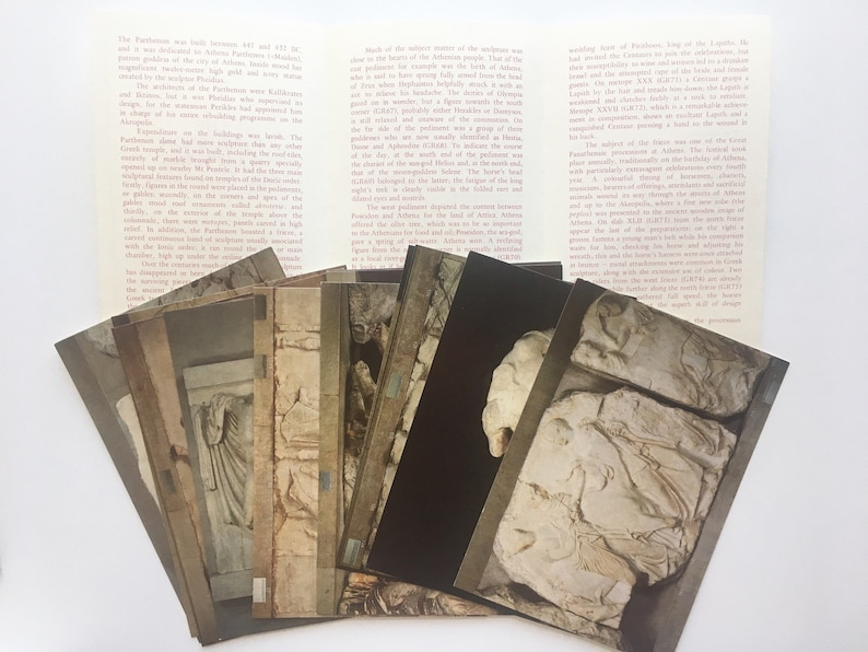 12 Unused Postcards  the Parthenon Sculptures souvenir pack from the British Museum  Lot 5