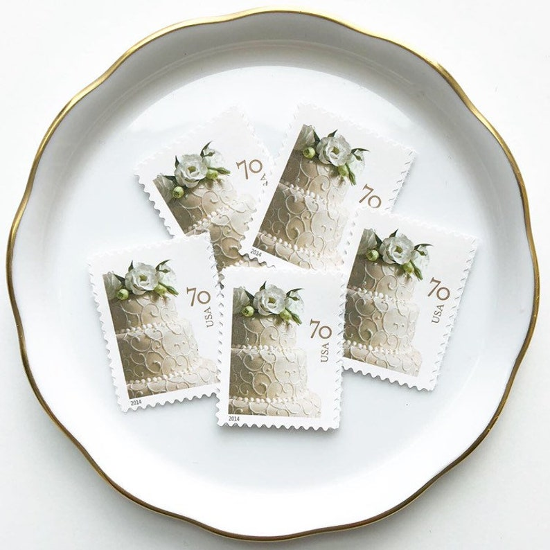 Usps Wedding Stamps.5 Unused Vintage Postage Mail Stamps Usps Wedding Cake 70 Cents 2014 No