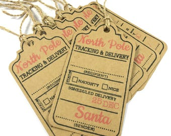 Naughty Or Nice Christmas Tags - North Pole - Special Delivery Labels