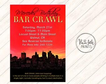 Bar Crawl Invite Etsy
