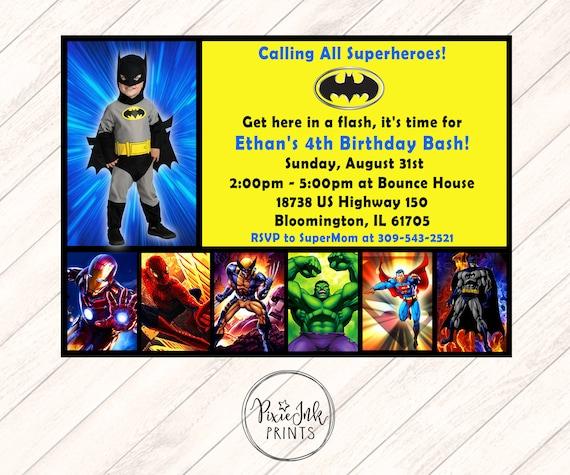 photograph about Free Printable Superhero Birthday Invitation Templates titled printable superhero birthday invites