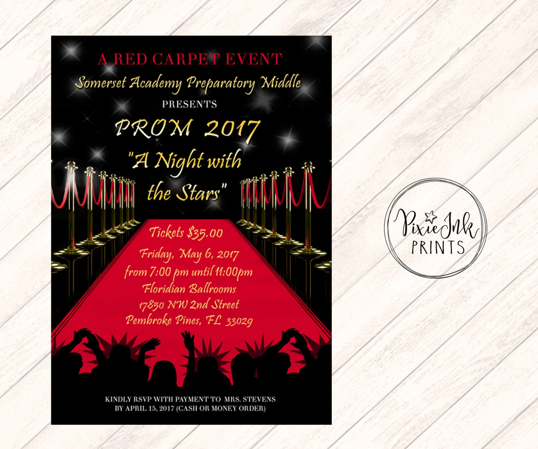 Red Carpet Invitation Red Carpet Affair Invitation Hollywood | Etsy