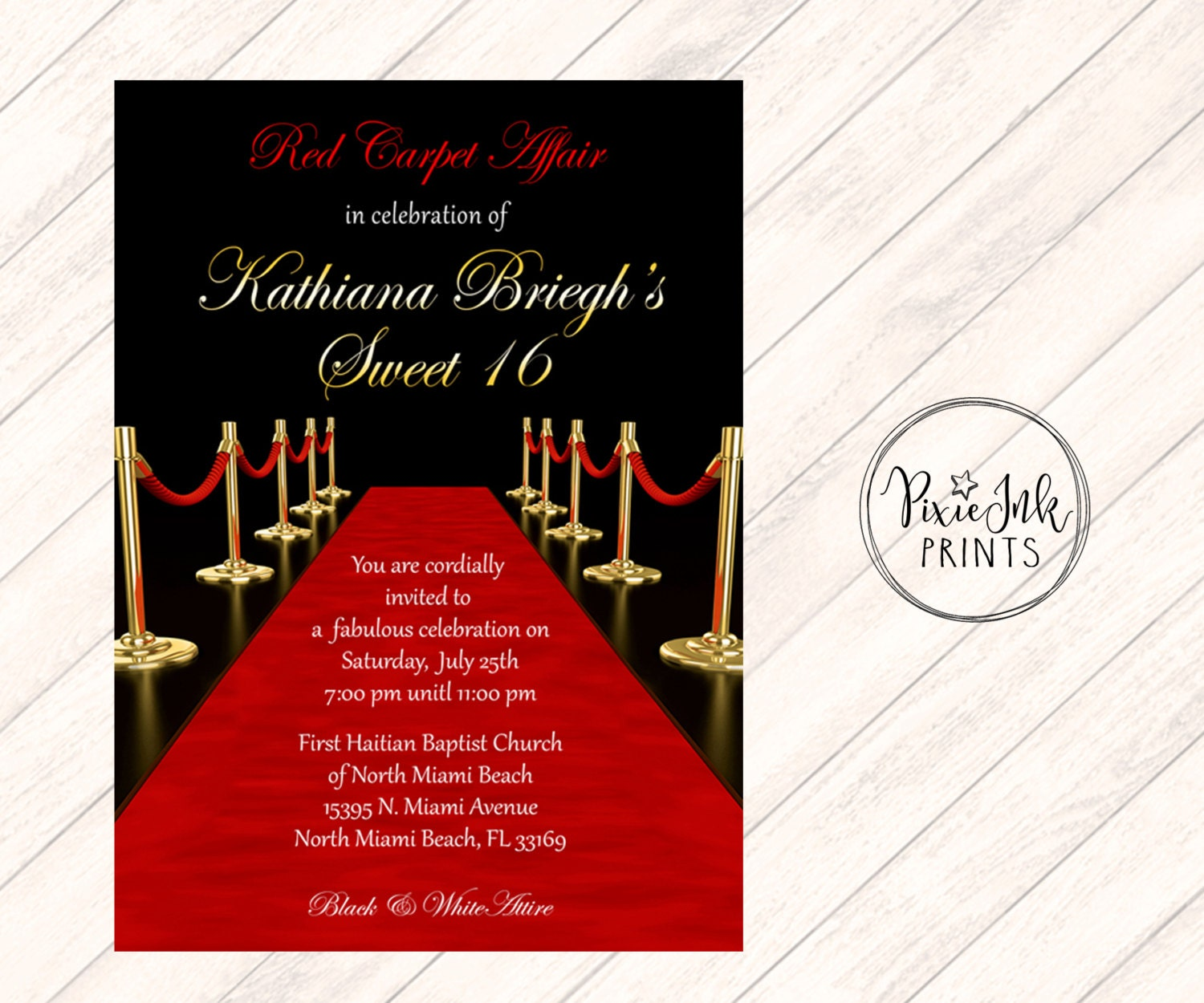 Fine you are cordially invited to my birthday party inspiration red carpet affair invitation hollywood sweet 16 invite red filmwisefo