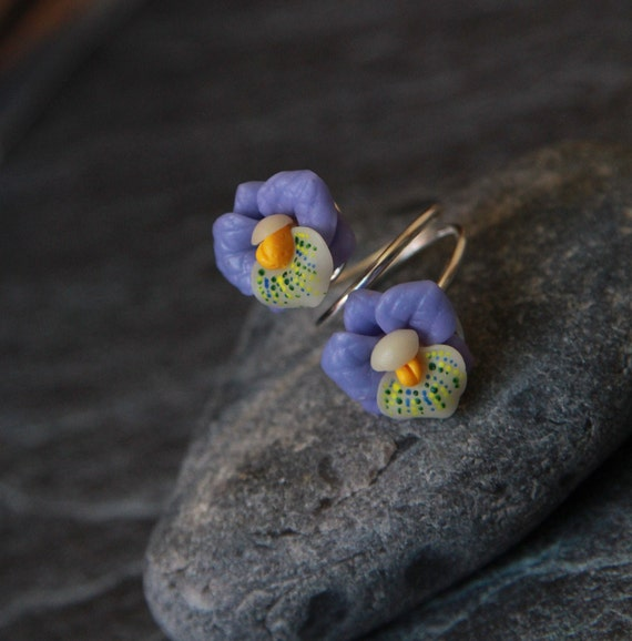Orchid ring Handmade jewellery women Polymer clay ring  Chameleon flower bijoux Clay fimo gift Cocktail ring for her Unique gift women