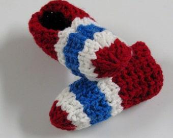 2c541f91f2fc0 PATRON PDF  2 Pantoufles tricot enfants 6 à 8 ans et adultes Canadiens de  Montréal