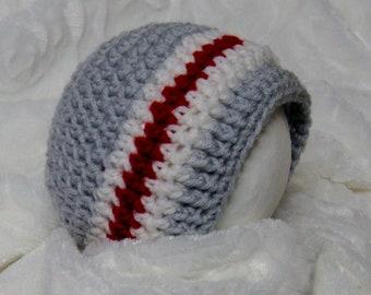 PATRON PDF #38 Bonnet au crochet bas de laine bébés 0-12  mois, patron facile, explications français anglais, bucheron, 3petitesmailles