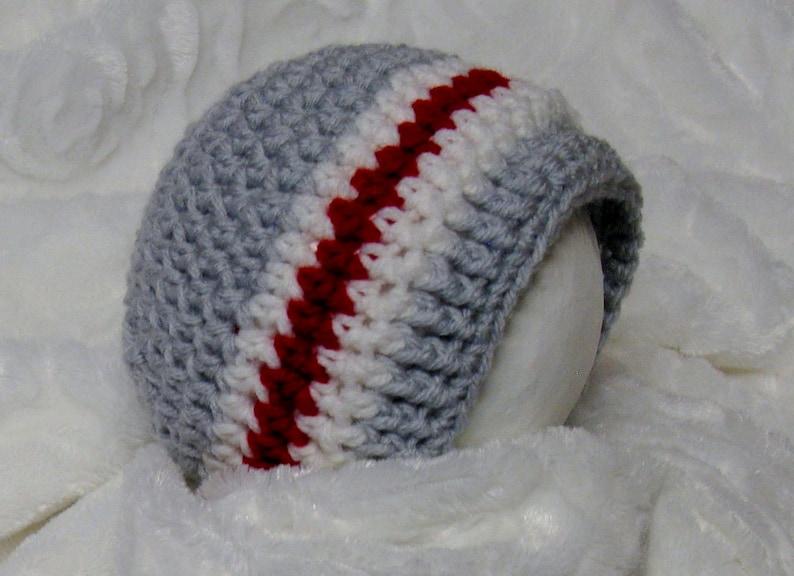 PATRON PDF 38 Bonnet au crochet bas de laine bébés 0-12 image 0