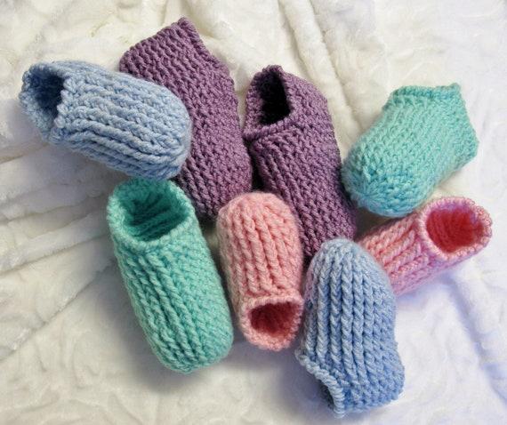 Patrons Tricot-Crochet 3 petites mailles-chaussons-pantoufles ...