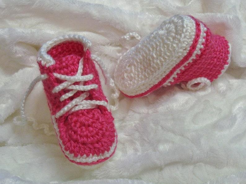 PATRON PDF No 45 Espadrilles au crochet pour bébés 0-12 mois image 0
